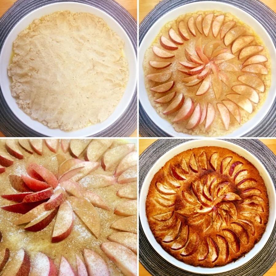 Omenapiirakka Mantelijauhe